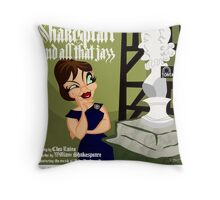 SHAKESPEARE & ALL THAT JAZZ Throw Pillow