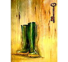 Still Life with  Wellingtons Photographic Print
