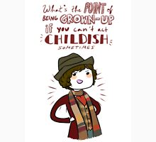 Fourth Doctor Quote Womens Fitted T-Shirt