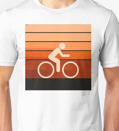 Biking Orange Unisex T-Shirt