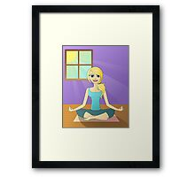 Girl Doing Yoga Framed Print