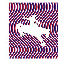 Psychedelic Cowboy Photographic Print