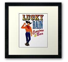 Lucky Bain Casino & Bar Framed Print