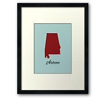 Alabama - States of the Union Framed Print
