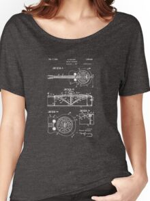 Resonator/Dobro Guitar Patent Drawing Women's Relaxed Fit T-Shirt