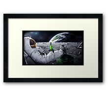 Beer on the Moon Framed Print