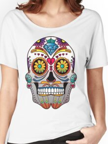 Sugar Skull w/no background 1 Women's Relaxed Fit T-Shirt