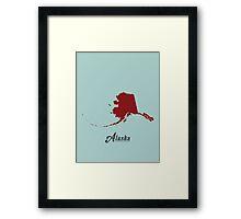 Alaska - States of the Union Framed Print