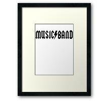 Music Band Framed Print
