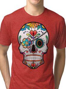 Sugar Skull w/no background 3 Tri-blend T-Shirt