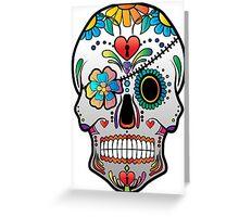 Sugar Skull w/no background 3 Greeting Card