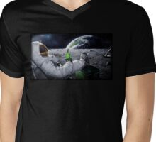 Beer on the Moon Mens V-Neck T-Shirt