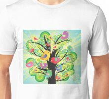 Colorful Birds in a Tree Unisex T-Shirt