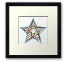 Guillochete star Framed Print