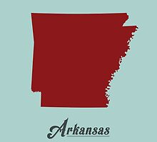 Arkansas - States of the Union by Michael Bowman