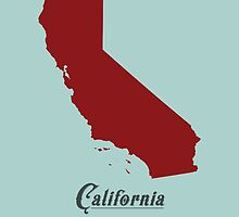 California - States of the Union by Michael Bowman