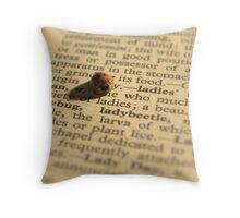 Literate Ladybug Throw Pillow