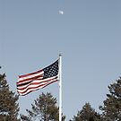 Patriotic Moon by NJC Photography