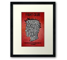 Typography Tyler Durden Uncensored Framed Print