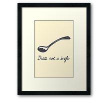 The treachery of cutlery Framed Print