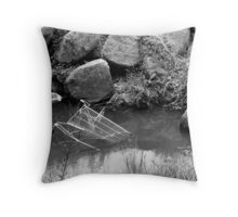 A Creek Abused Throw Pillow