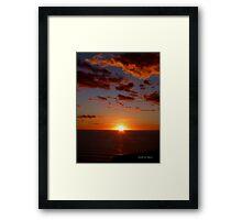 San Francisco Sunset 1512 Framed Print