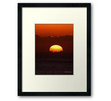 San Francisco Sunset 1513 Framed Print