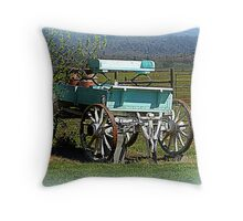 Waiting for horses Throw Pillow