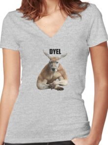 Do you even lift? Women's Fitted V-Neck T-Shirt