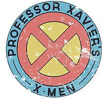 Distressed X-Men Logo Photographic Print