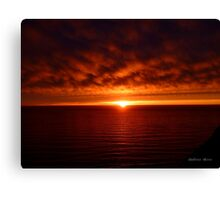 San Francisco Sunset 1519 Canvas Print