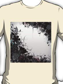 Grunge Flower Frame T-Shirt
