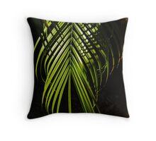 Soft Palm Fronds Throw Pillow