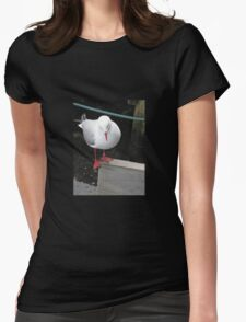 A BALANCING ACT Womens Fitted T-Shirt