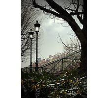 Paris lamp posts Photographic Print