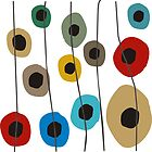 Circles Modern Art by gailg1957