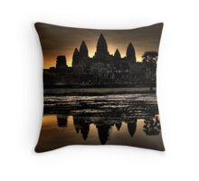 Sunrise over Angkor Wat Throw Pillow