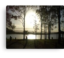 Shining waters... Canvas Print
