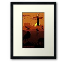 ...and the Gunslinger followed Framed Print