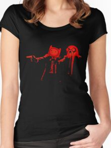 Adventure Time Pulp Fiction Women's Fitted Scoop T-Shirt