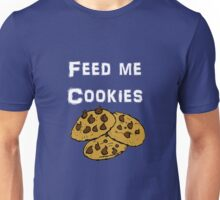 Iskybibblle Products / Feed me Cookies/ White Unisex T-Shirt