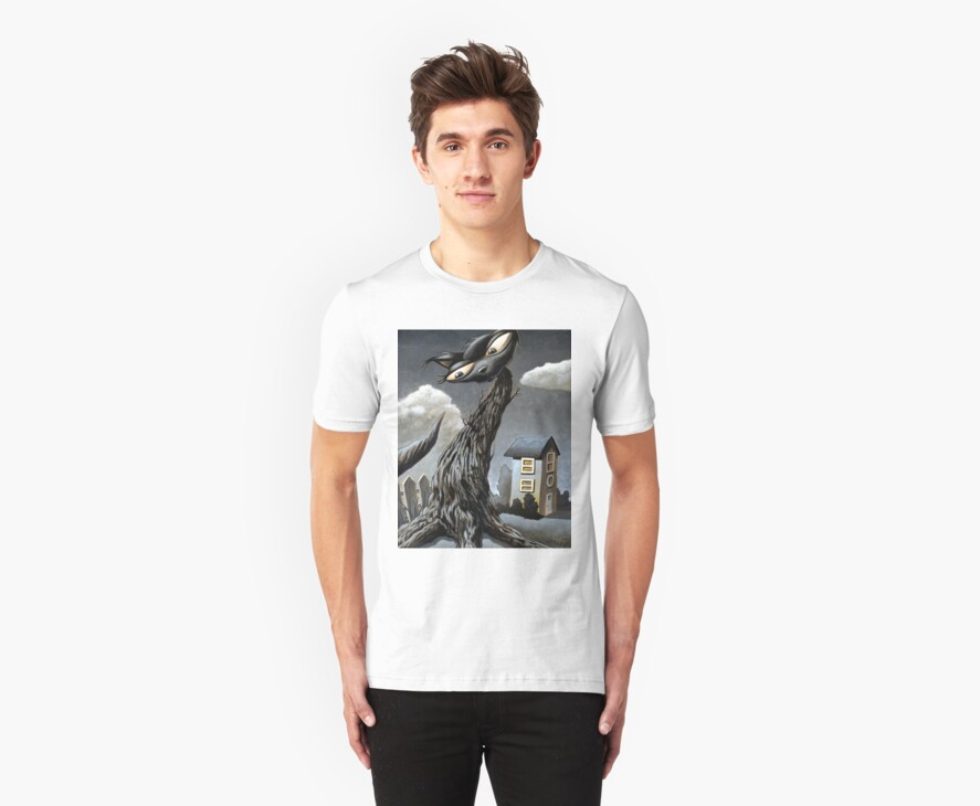 Cat Tree T-shirt by Mike Cressy
