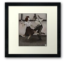 silly swingers Framed Print