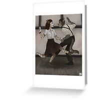 silly swingers Greeting Card