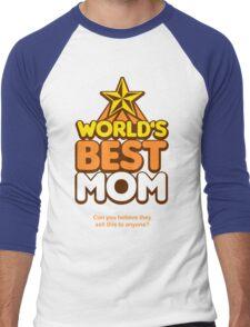 World's Greatest Mom Men's Baseball ¾ T-Shirt