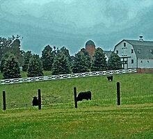 Country Painted Scene by Linda Miller Gesualdo