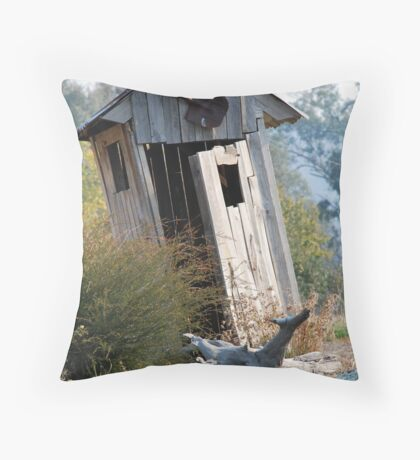 'Outback dunny' Throw Pillow