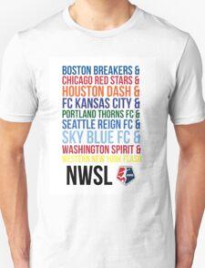 National Women's Soccer League Teams T-Shirt