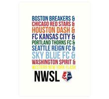 National Women's Soccer League Teams Art Print