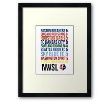 National Women's Soccer League Teams Framed Print